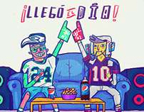 PEPSI Super Bowl Illustration