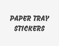 Stickers paper tray