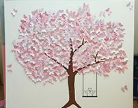 3d vlinder canvas boom