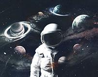 Under space.