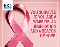 Social media campaign for breast cancer awareness.