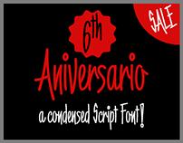 6th Aniversario font