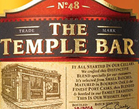 Temple Bar Whiskey Iabels illustrated by Steven Noble