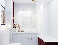 White interior / Bathroom