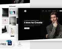 Free Portfolio Web Design PSD Template