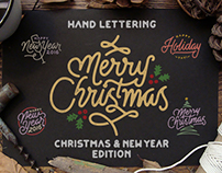 Hand Lettering Christmast and New Year Edition