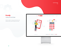 Ready Topup System Website UI/UX