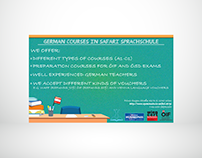 German course, advertisement