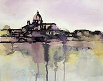 Firenze, Cestello, Winter, from Ponte alla Carraia