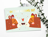 Wedding Day Cards — Wedding Bears