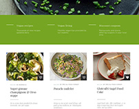 UX/UI for recipes website