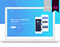 Asla App Landing Page