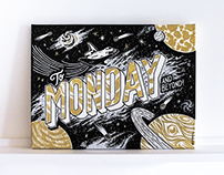 """Monday & Beyond"" Typography painting"
