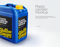Plastic canister mockup