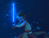 """The Force Awakens"" - Rey illustration"