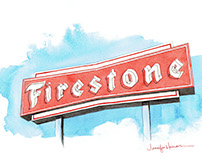 Firestone Sign, Raleigh