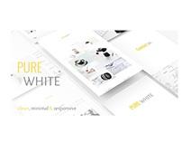 Pure White HTML Template