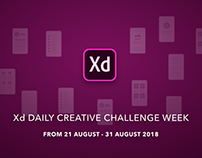 Xd DAILY CREATIVE CHALLENGE -AUGUST 2018