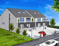 Architectural compositing for 2 houses in Kayl