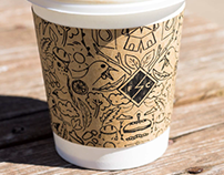 Illustrations for Coffee Sleeves