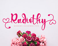Free Radisthy Handwritten Font