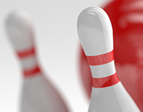 FREEBIE: BOWLING PINS WITH DETAILED TEXTURES
