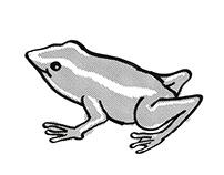 Monte Iberia Eleuth frog Endangered Wildlife Cartoon
