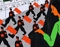 """illustration for LITERATUR SPIEGEL """"Dunkle Zahlen"""""""