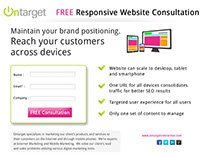 Landing Page Design - Responsive Website Consultation