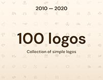 10 years —100 logos