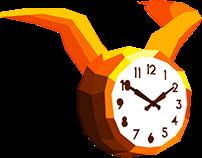 Low poly clocks