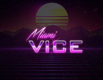 Free Miami Vice Style Retro Text For Photoshop