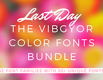 LAST DAY - The VIBGYOR Color Fonts Bundle