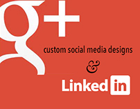 Google and LinkedIn Custom Social Media Headers