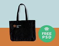 Black Fabric Bag / Free PSD