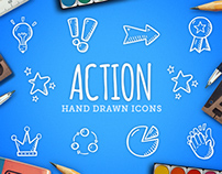 Action - Hand Drawn Icons