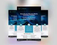 Corporate Flyer With Free Mockup