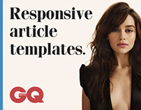 Responsive article templates for British GQ.