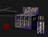 Sport Nutrition Bottles Display Box Poster Mockup