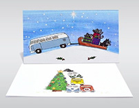 Landscape Business Christmas Cards Printing