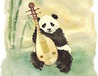 """Illustrations to """"Three pandas"""" by Svetlana Gerasimova"""