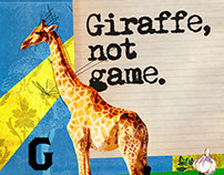 Giraffe, not game Collage