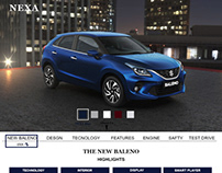 NEXA-The New Baleno landing page