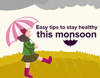 Medlife - Stay Healthy This Monsoon - Infographics
