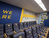 Marquette University Volleyball Locker Room