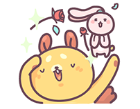 // STICKERSET // SQUIRREL AND BUNNY //