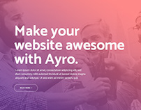 Ayro - A Gradient-Inspired Theme For Tech & Digital