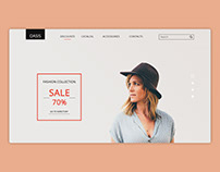 New design of online store OASIS