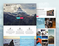 [FREE] Mountain King: HTML Bootstrap template