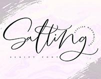 Salting Script Font